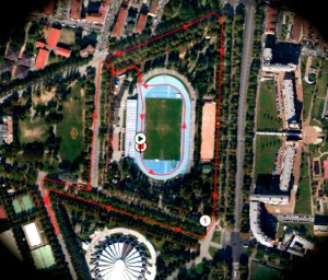 Laufstrecke 24h-Lauf Turin 2015